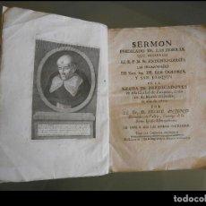 Libros antiguos: SERMON PREDICADO EN LAS HONRAS QUE HICIERON AL R.P.M. FR. ANTONIO GARCÉS LAS HERMANAS DE LOS DOLORES. Lote 107408695