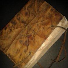 Libros antiguos: ANTIGUO LIBRO RELIGIOSO DESPERTADOR DEL ALMA DESCUIDADA, (TAPAS PERGAMINO, PIEL) COMPLETO, S XVIII. Lote 113631418