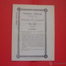 Libros antiguos: BOLETÍN OFICIAL ECLESIÁSTICO (OBISPADO DE CARTAGENA) 1931, Nº 15 ¡COLECCIONISTA! ORIGINAL. Lote 54257505