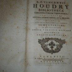 Libros antiguos: VINCENTII HOUDRY BIBLIOTHECA CONCIONATORUM THEOLOGICA 1779 VENETIS TOMUS 3-4-5 . Lote 108383307