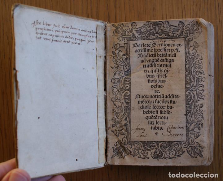 Libros antiguos: Año 1521. Libro siglo XVI en pergamino. Barlete Sermones exactissime ipsessi: S. Bendictu britanicu - Foto 8 - 109042727