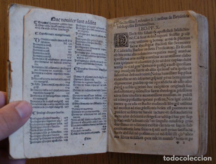 Libros antiguos: Año 1521. Libro siglo XVI en pergamino. Barlete Sermones exactissime ipsessi: S. Bendictu britanicu - Foto 9 - 109042727