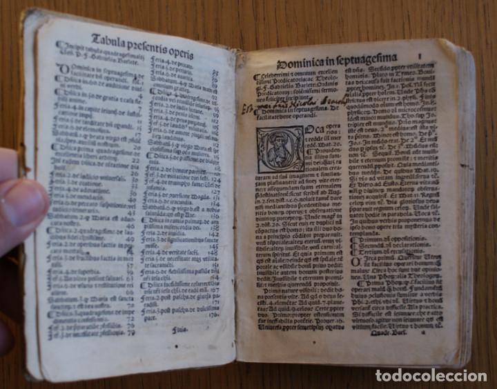 Libros antiguos: Año 1521. Libro siglo XVI en pergamino. Barlete Sermones exactissime ipsessi: S. Bendictu britanicu - Foto 10 - 109042727
