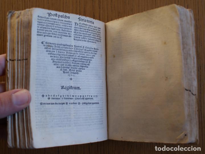 Libros antiguos: Año 1521. Libro siglo XVI en pergamino. Barlete Sermones exactissime ipsessi: S. Bendictu britanicu - Foto 16 - 109042727