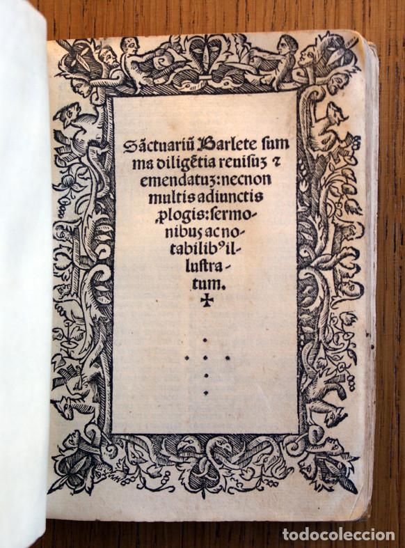 Libros antiguos: Año 1521. Libro siglo XVI en pergamino. Barlete Sermones exactissime ipsessi: S. Bendictu britanicu - Foto 18 - 109042727