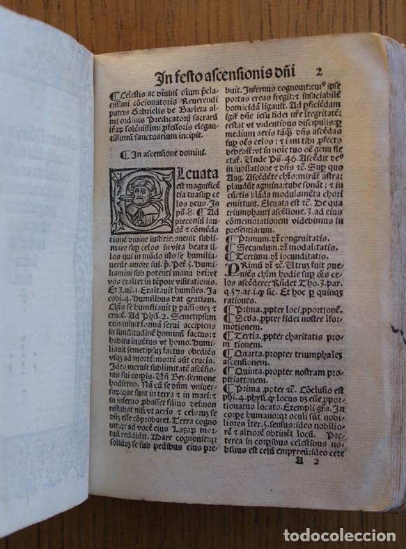 Libros antiguos: Año 1521. Libro siglo XVI en pergamino. Barlete Sermones exactissime ipsessi: S. Bendictu britanicu - Foto 19 - 109042727