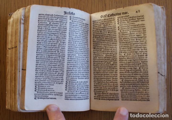 Libros antiguos: Año 1521. Libro siglo XVI en pergamino. Barlete Sermones exactissime ipsessi: S. Bendictu britanicu - Foto 22 - 109042727