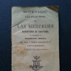 Old books - NOVENARIO A LA VIRGEN MARIA DE LAS MERCEDES. BARCELONA, 1884 - 109105855