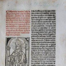 Libros antiguos: [INCUNABLE. 1495] ANTONINO DE FLORENCIA. TRIALOGUS SUPER EVANGELIO DE DUOBUS DISCIPULIS EUNTIBUS.... Lote 109024103