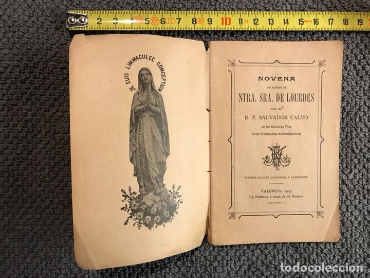 NOVENA. NTRA. SRA. DE LOURDES. (VALENCIA 1903) (Libros Antiguos, Raros y Curiosos - Religión)