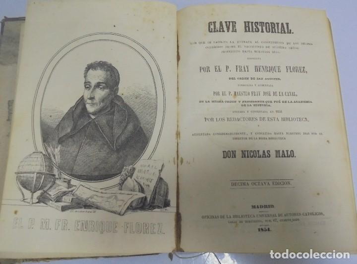 CLAVE HISTORIAL. FRAY HENRIQUE FLOREZ. MADRID. 1854. LEER (Libros Antiguos, Raros y Curiosos - Religión)