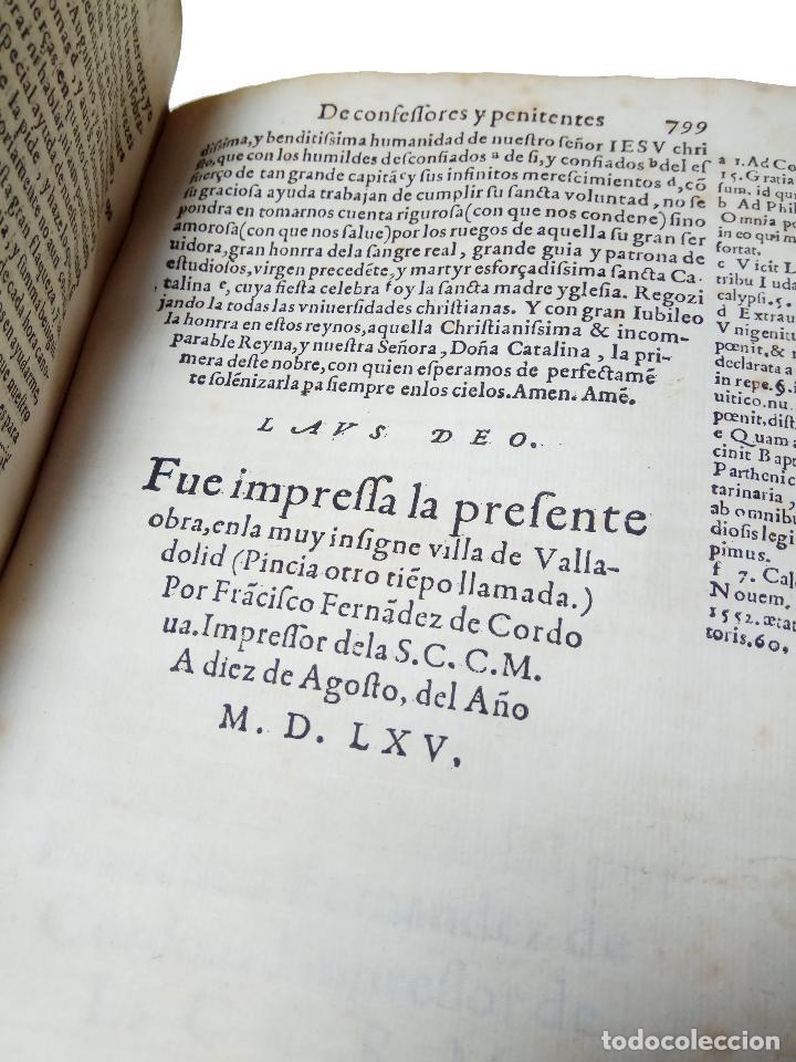 Libros antiguos: IMPORTANTE OBRA POST-INCUNABLE MANUAL DE CONFESORES Y PENITENTES - MARTÍN DE AZPILICUETA - 1565 - - Foto 7 - 109538495