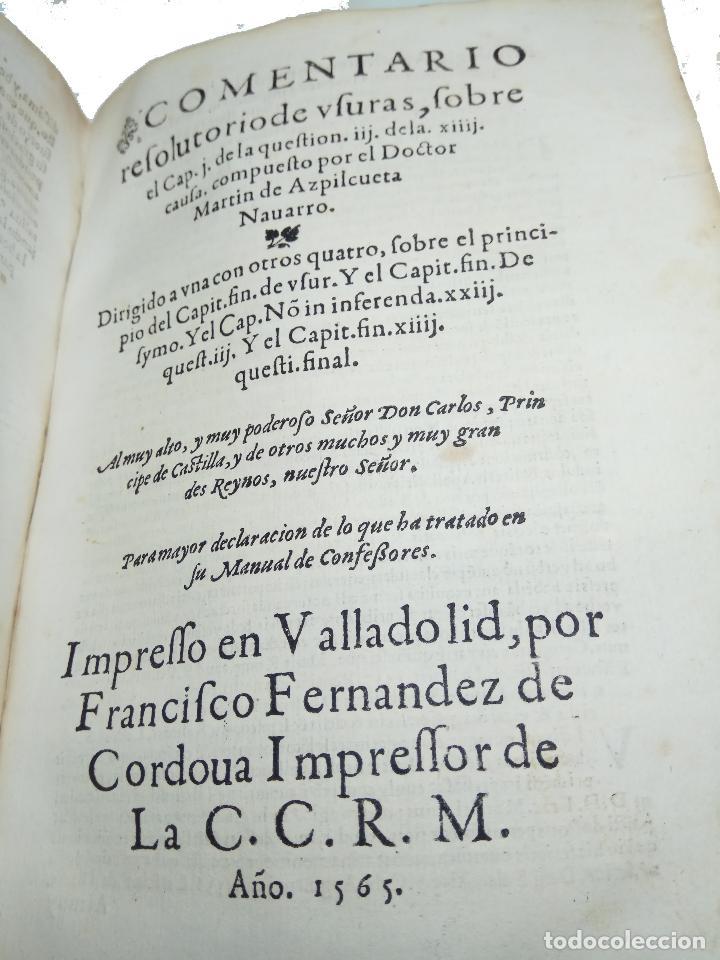 Libros antiguos: IMPORTANTE OBRA POST-INCUNABLE MANUAL DE CONFESORES Y PENITENTES - MARTÍN DE AZPILICUETA - 1565 - - Foto 8 - 109538495