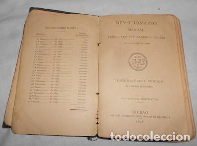 Libros antiguos: DEVOCIONARIO MANUAL, DE 1898 - Foto 2 - 110094727