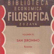 Libros antiguos: SAN JERONIMO. EPÍSTOLAS SELECTAS. MADRID, 1888. Lote 110189607