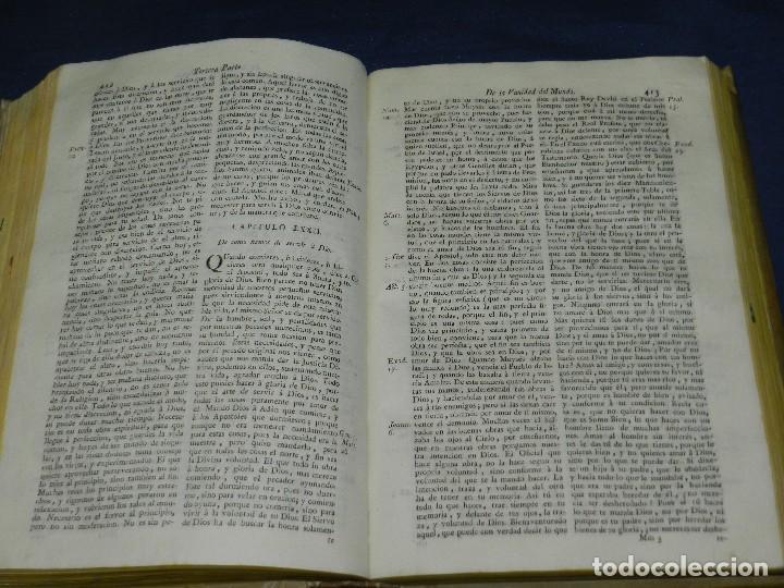 Libros antiguos: (3.4) FR DIEGO DE ESTELLA - TRATADO VANIDAD DEL MUNDO DIVIDIDO EN TRES LIBROS , MADRID MDCCLXXXVII - Foto 3 - 110963535