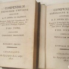 Libros antiguos: COMPENDIUM THEOLOGIAE UNIVERSAE / AUCTORE R.P. THOMA EX CHARMES. 2 VOL. (1827). Lote 111360727