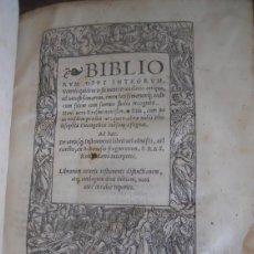 Libros antiguos: BIBLIA. BIBLIORUM OPUS INTEGRUM, BASEL, 1522 ERASMO DE ROTTERDAM. ANTIGUO TESTAMENTO POST INCUNABLE. Lote 111457627