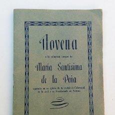Libros antiguos: NOVENA A LA MILAGROSA IMAGEN DE MARÍA SANTÍSIMA DE LA PEÑA - VIRGEN PATRONA DE CALATAYUD. Lote 111698055