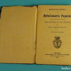 Libros antiguos: RECUERDO DEL MISIONERO O DEVOCIONARIO POPULAR SACADO EN PARTE DE LAS OBRAS DE SAN ALFONSO Mª LIGORIO. Lote 111825311