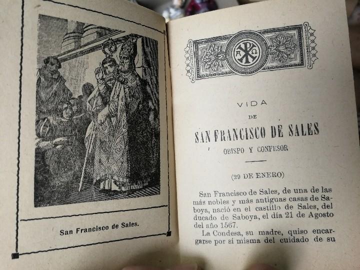Libros antiguos: LIBRILLO CALLEJA, VIDA DE SAN FRANCISCO DE SALES, FLORES CELESTES - Foto 3 - 112177459