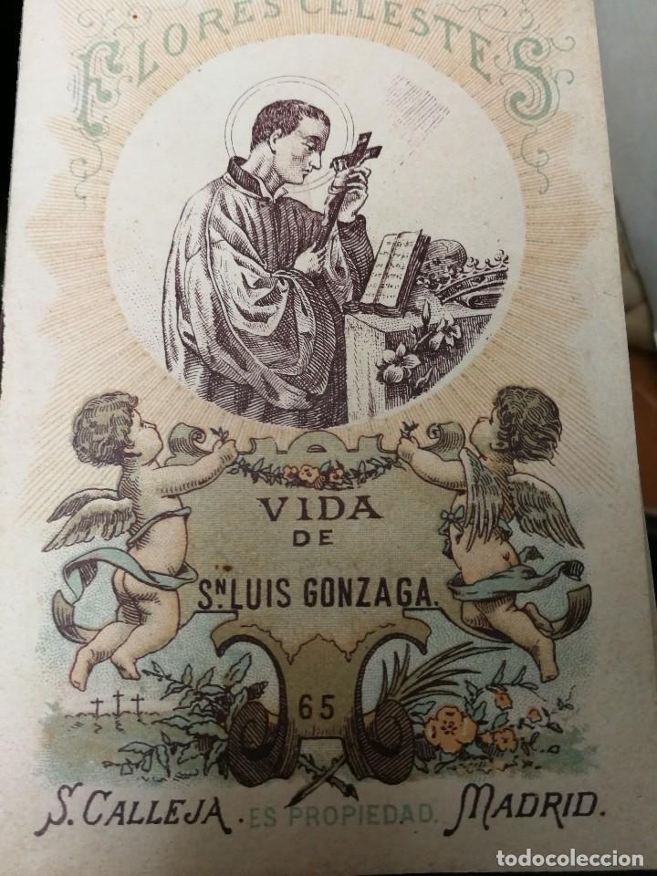 LIBRILLO CALLEJA, VIDA DE SAN LUIS GONZAGA, FLORES CELESTES (Libros Antiguos, Raros y Curiosos - Religión)