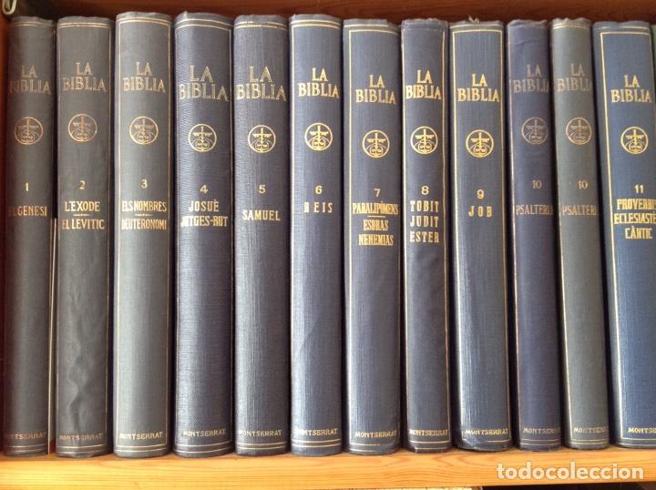 Libros antiguos: La Biblia ( Monestir de Montserrat) - Foto 2 - 112769926
