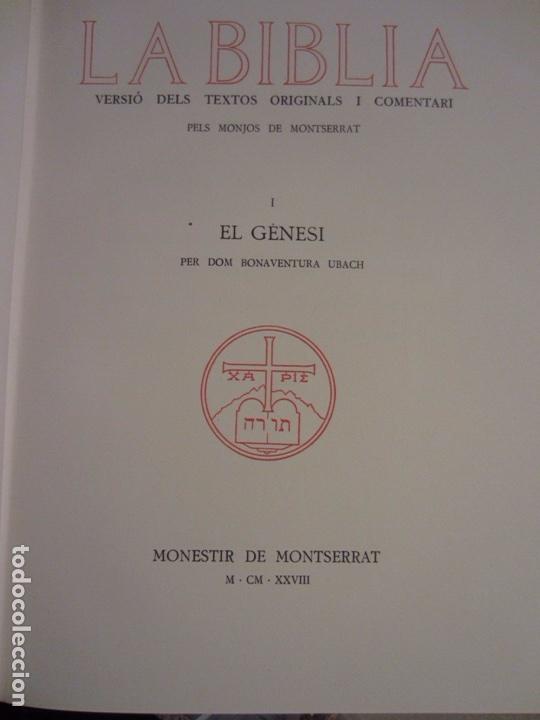 Libros antiguos: La Biblia ( Monestir de Montserrat) - Foto 3 - 112769926