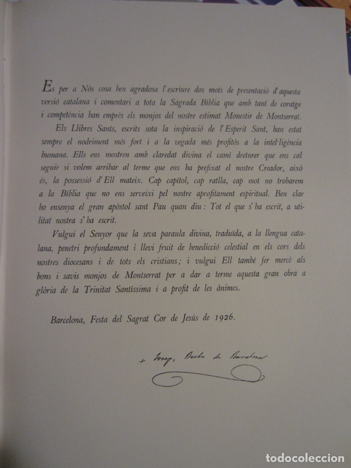 Libros antiguos: La Biblia ( Monestir de Montserrat) - Foto 6 - 112769926
