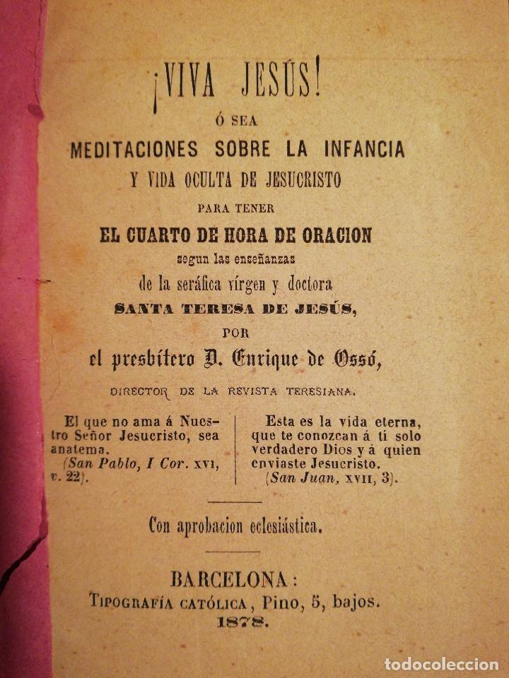 Libros antiguos: Libro MEDITACIONES SOBRE LA INFANCIA - Año 1878 S. XIX - Foto 3 - 112927223
