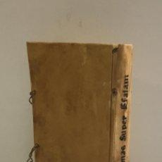 Libros antiguos: CLARISSIMI SACREQ[UE] SCRIPTURE INTERPRETIS... IN ESAIAM FAMILIARIS... [GÓTICO, 1531]. Lote 109020943