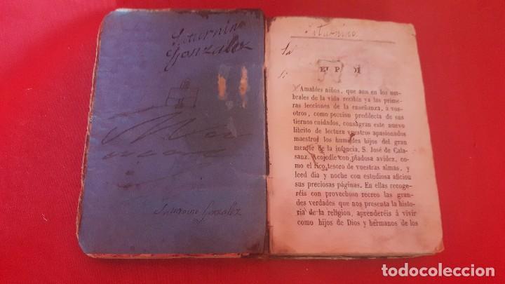 Libros antiguos: HISTORIA SAGRADA. POR EL PADRE LORIQUET. - Foto 2 - 113092679