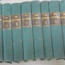 Libros antiguos: FLOS SANCTORUM. NUEVO AÑO CRISTIANO. RIBADENEIRA. IMP REVISTA MEDICA, CADIZ. 12 TOMOS. 1863. LEER. Lote 113229223