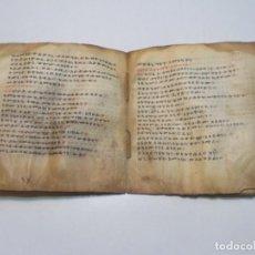 Libros antiguos: MANUSCRITO SOBRE PERGAMINO. GE ' EZ . HAZ DE 3 HOJAS DE ANTIQUÍSIMA BIBLIA ETÍOPE CRISTIANA COPTA.. Lote 113356803