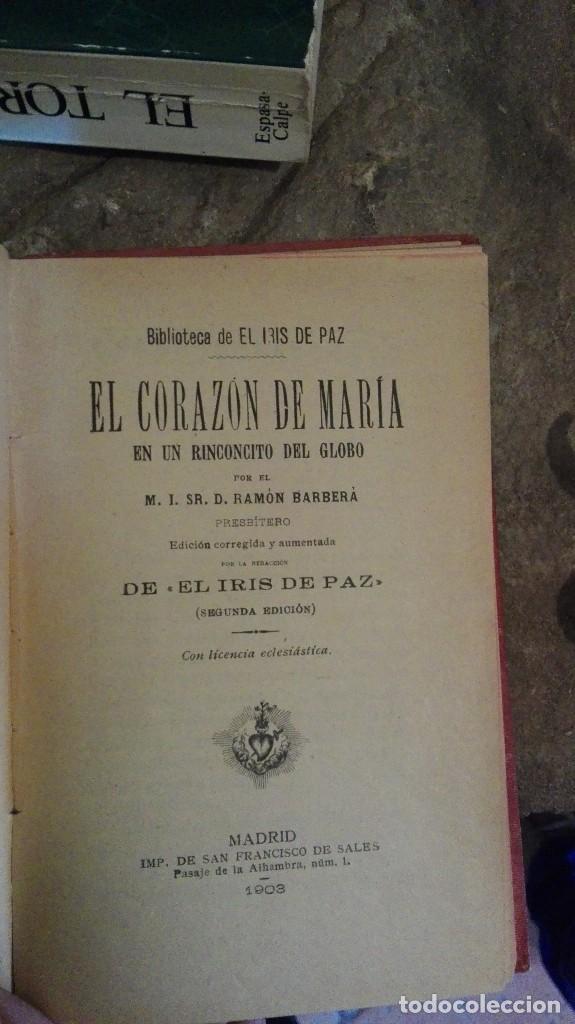 Libros antiguos: El corazon de Maria El iris de paz 1903 UNICO! - Foto 2 - 113398615