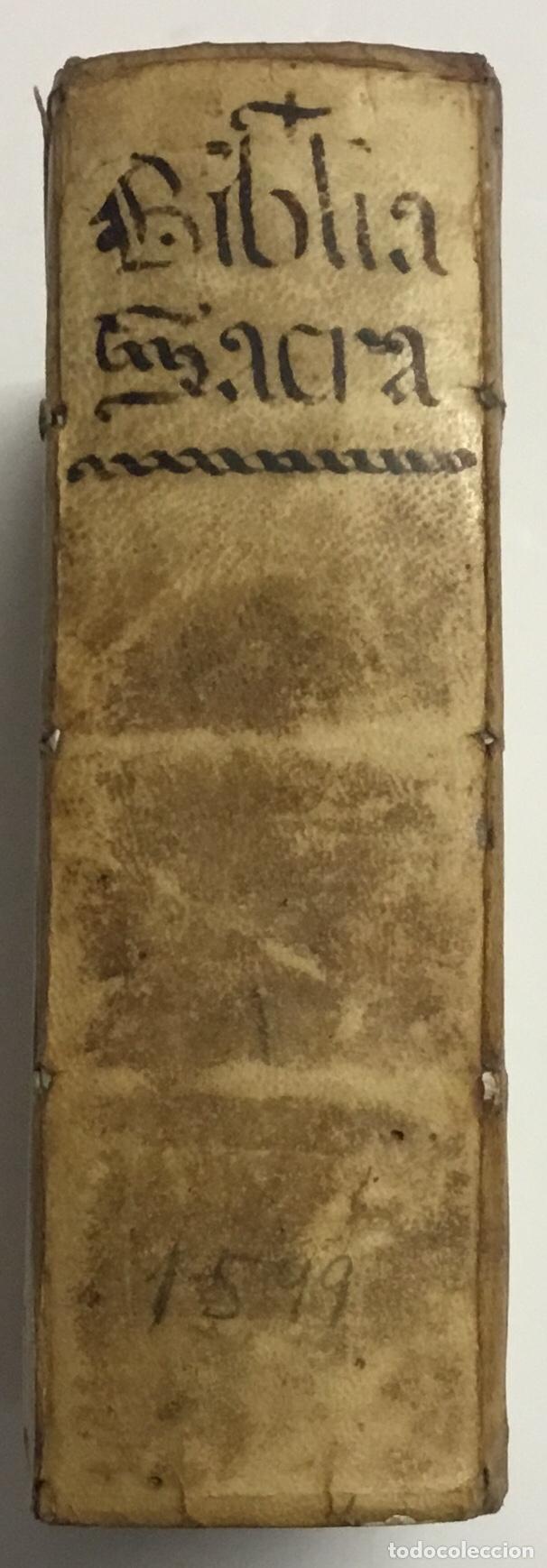 BIBLIA, AD VETUSTISSIMA EXEMPLARIA NUNC RECENS CASTIGATA. VENECIA, 1599. CON GRABADOS EN EL TEXTO. (Libros Antiguos, Raros y Curiosos - Religión)