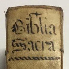 BIBLIA, AD VETUSTISSIMA EXEMPLARIA nunc recens castigata. VENECIA, 1599. CON GRABADOS EN EL TEXTO.
