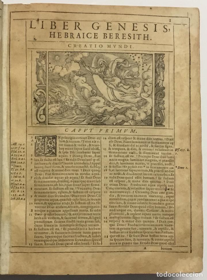 Libros antiguos: BIBLIA, AD VETUSTISSIMA EXEMPLARIA nunc recens castigata. VENECIA, 1599. CON GRABADOS EN EL TEXTO. - Foto 4 - 109021794