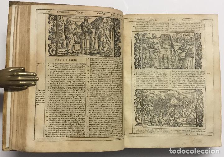 Libros antiguos: BIBLIA, AD VETUSTISSIMA EXEMPLARIA nunc recens castigata. VENECIA, 1599. CON GRABADOS EN EL TEXTO. - Foto 10 - 109021794