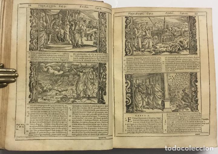 Libros antiguos: BIBLIA, AD VETUSTISSIMA EXEMPLARIA nunc recens castigata. VENECIA, 1599. CON GRABADOS EN EL TEXTO. - Foto 11 - 109021794