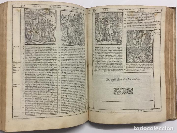 Libros antiguos: BIBLIA, AD VETUSTISSIMA EXEMPLARIA nunc recens castigata. VENECIA, 1599. CON GRABADOS EN EL TEXTO. - Foto 17 - 109021794