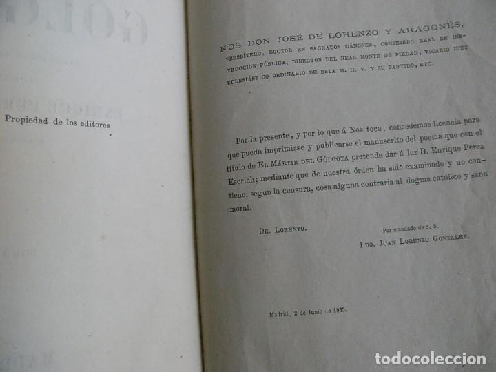 Libros antiguos: EL MARTIR DEL GOLGOTA.PEREZ ESCRICH,1866, COMPLETA EN DOS TOMOS, TRADICIONES ORIENTE 2ª EDIC. - Foto 5 - 113509703