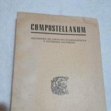 Libros antiguos: SECCIONES DE CIENCIAS ECLESIASTICAS Y ESTUDIOS JACOBEOS, VOL. VI. Lote 114490627