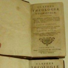 Libros antiguos: 2 TOMOS DE TEOLOGIA 1739 - CLYPEUS THEOLOGIAE THOMISTICAE POR JOANNE BAPTISTA. Lote 114644159