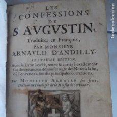 Libros antiguos: LES CONFESSIONS DE S. AUGUSTIN 1659. Lote 114706379
