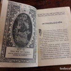 Libros antiguos: NOVENA A MARIA SANTISIMA DEL MONTE CARMELO , ORIHUELA 1924. Lote 115282575