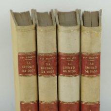 Libros antiguos: LA CIUDAD DE DIOS-SAN AGUSTÍN-LIBRERÍA DE PERLADO, PÁEZ Y Cª, MADRID 1913-4 TOMOS. Lote 115304171