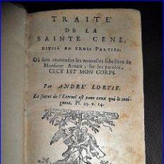 Libros antiguos: AÑO 1674: TRATADO DE LA SANTA CENA. SIGLO XVII. 344 AÑOS DE ANTIGÜEDAD.. Lote 115523935