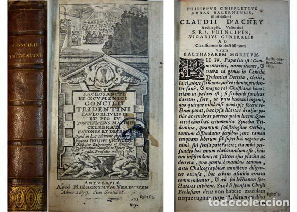 Libros antiguos: CONCILIO DE TRENTO. Sacrosancti et Oecumenici Concilii Tridentini...Canones et Decreta. Amberes,1677 - Foto 2 - 115660219