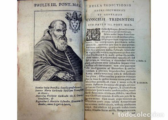 Libros antiguos: CONCILIO DE TRENTO. Sacrosancti et Oecumenici Concilii Tridentini...Canones et Decreta. Amberes,1677 - Foto 3 - 115660219